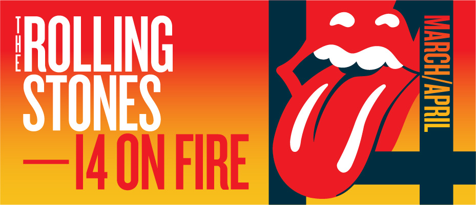 Rolling Stones world tour 2014 on fire