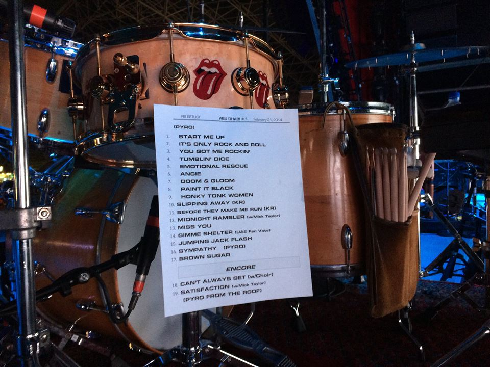 Rolling Stones Band 2014 Live On Fire